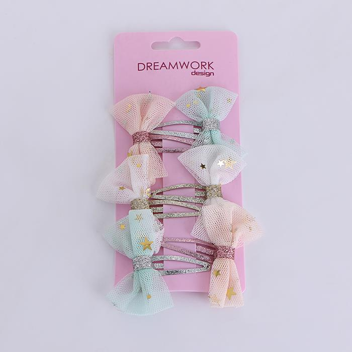 3pairs/set Cute Grid Bow Covered BB Clip For Girls Hairpin Hair Accessories.jpg
