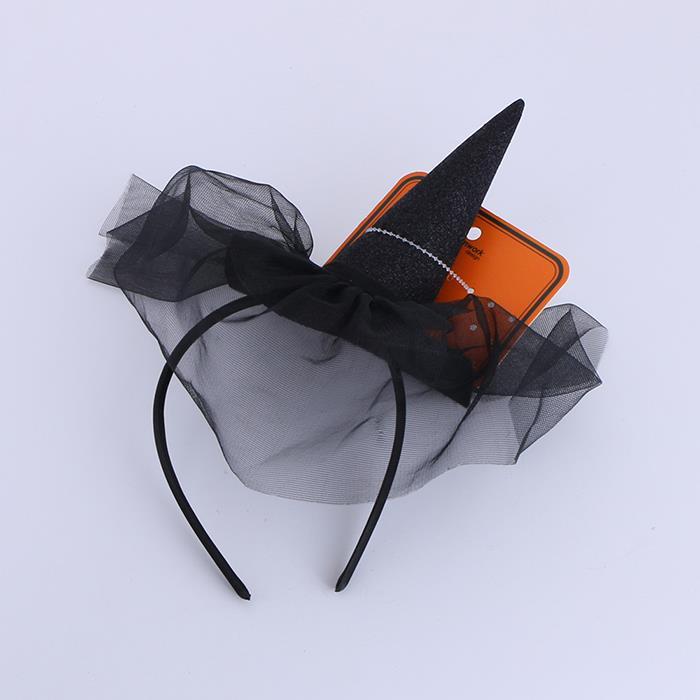 Halloween Headwear Mini Pointy Witch Hat Cute Hair Hoop Hairband .jpg