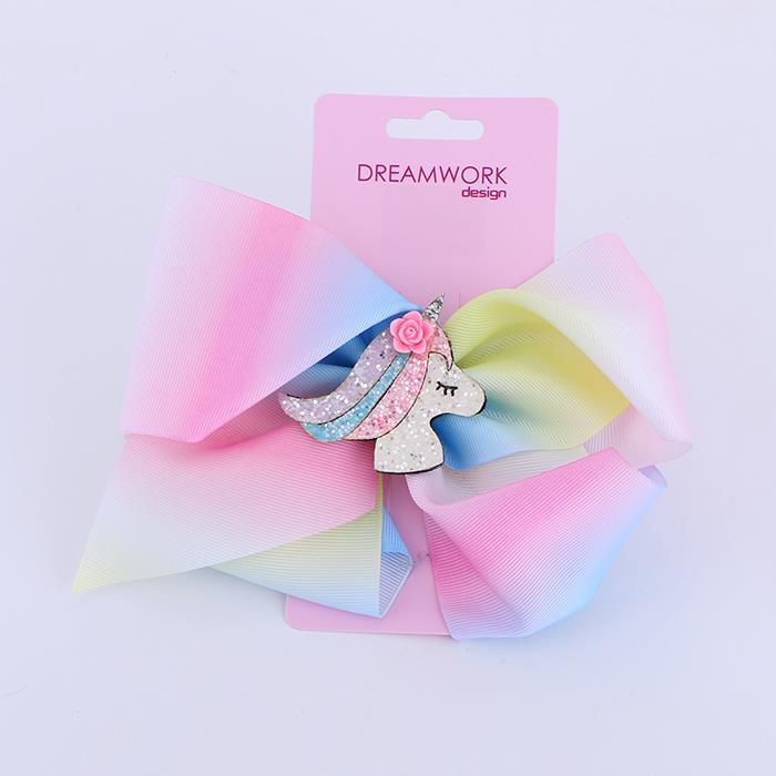 Cute Unicorn Bows Sequin Sparkly Glitter Hair Bows for Girls .jpg