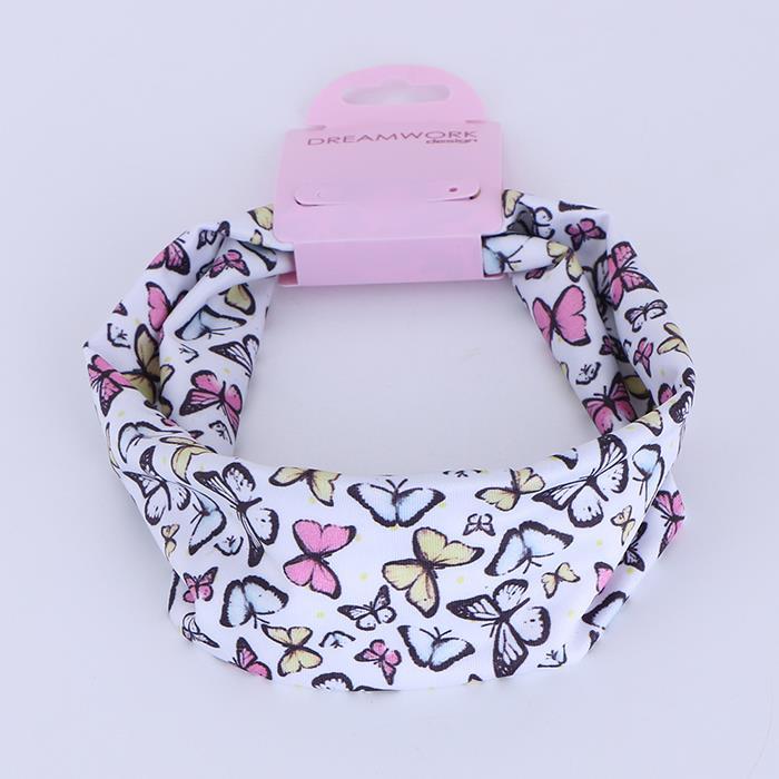 Women Elastic Butterfly Printed Turban Head Wrap Headband Twisted Hair Band.jpg