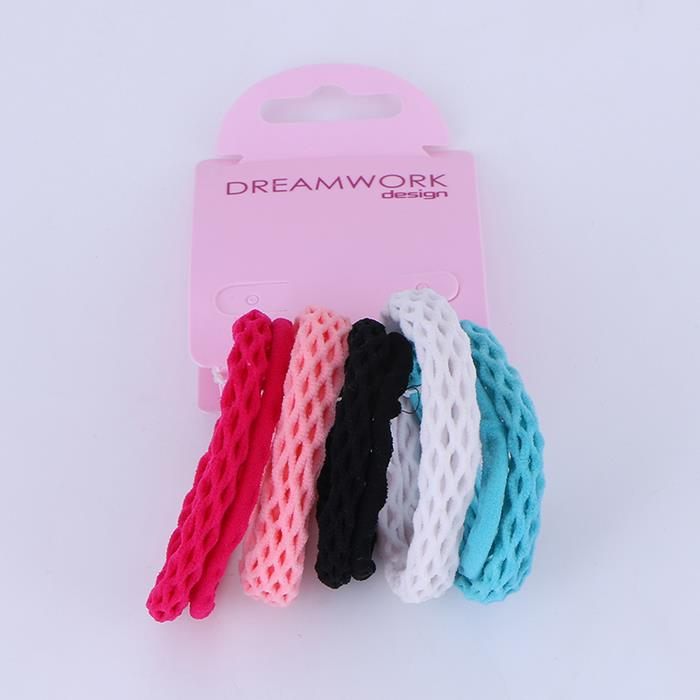 5pcs/Set Korea Hair Ring Without Seam Hairline Simple Pony Tail Elastic Fabric Rope.JPG