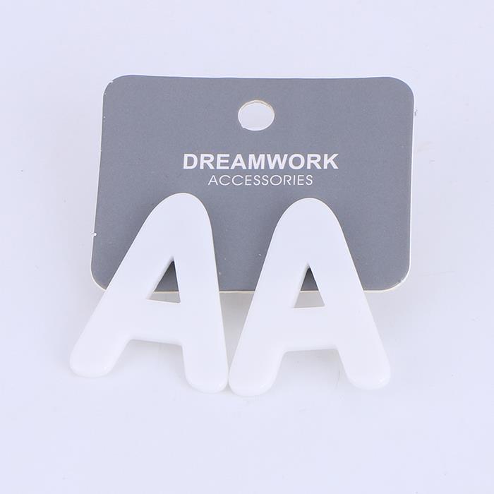 Simply letter A Resin Stud Earrings For Women .jpg