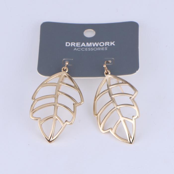 Creative Hollow Leaf Metal Dangle Earrings.jpg