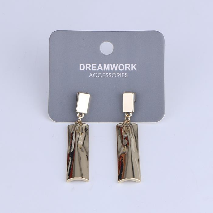 Simple geometric metal rectangle dangle string earrings.jpg