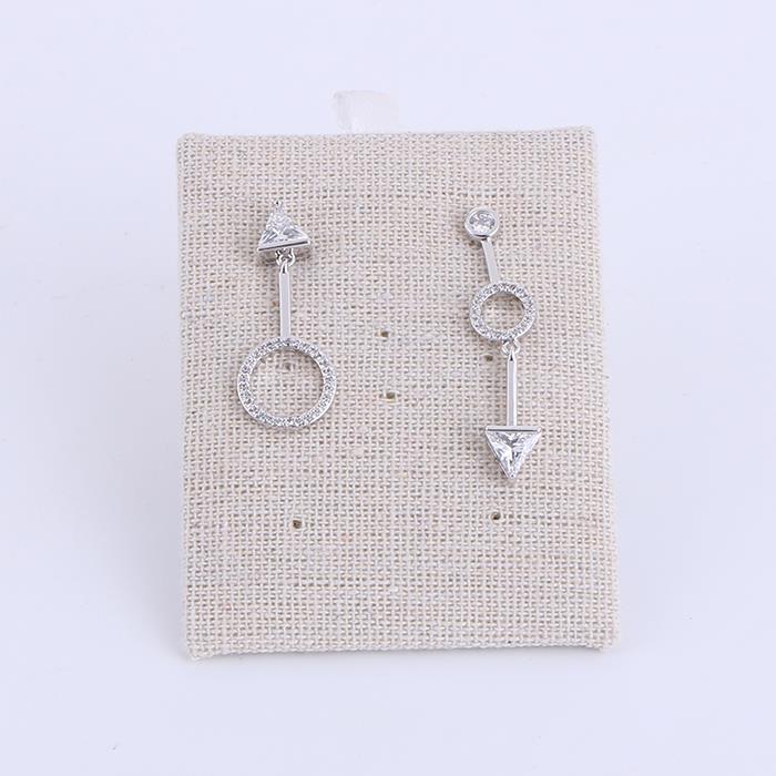 Temperament geometric asymmetrical zirconium dangle earrings.JPG