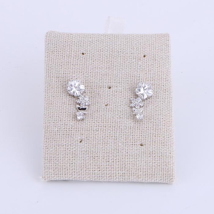Elegant Rhinestone Flower Shape Stud Earrings.jpg
