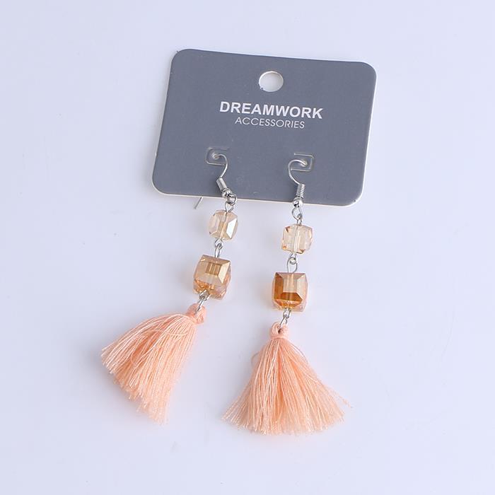 Korean Style Tassel Earrings Long Fringe Bohemian Drop Dangle Earring.JPG