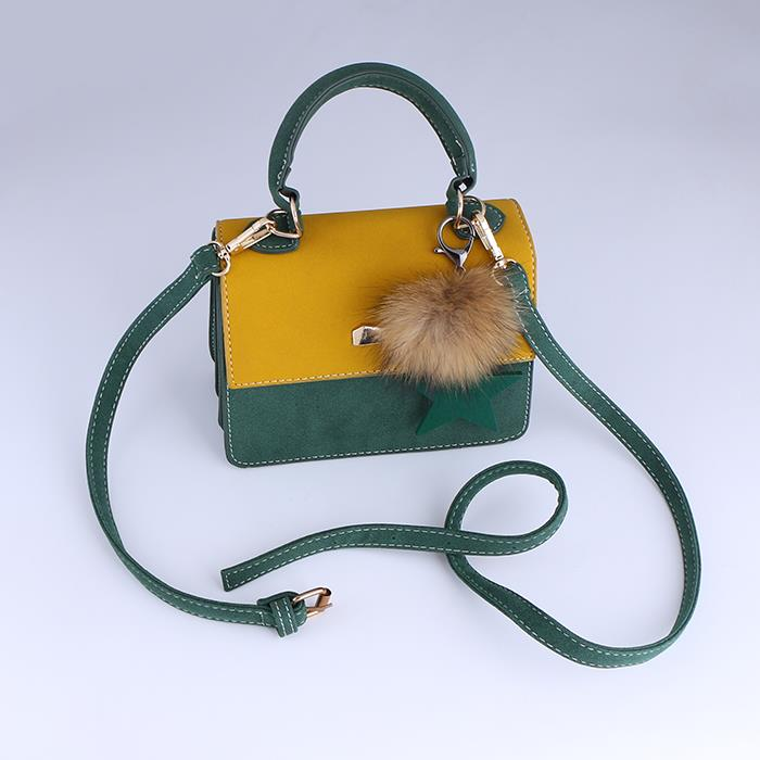 Korean Contrast Color shoulder bag small square bag .JPG