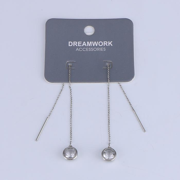 Simply Zircon Ear Line Threader Women Girls Dangle Drop Earring.JPG