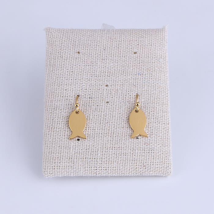 Cute fish Stainless Steel Gold Stud Earrings.JPG