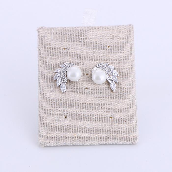 Angel Wings White Imitation Pearl Wedding Earrings.jpg