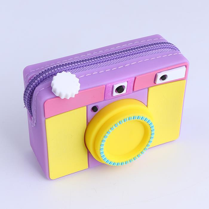 Cute Camera Shaped Bag Coin Silicon Purse Pouche Money Bag Wallet