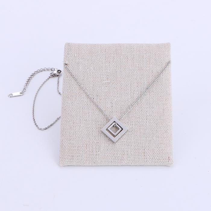 Simply Hollow Square Stainless Steel Pendant Necklace