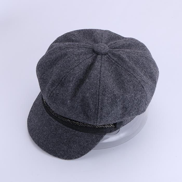 British style retro sweet autumn and winter woolen beret hat