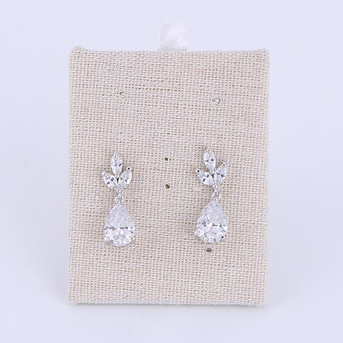 Charm Vintage Inspired Crystal Teardrop Drop Earrings Women Wedding Bridal Earrings Jewelry