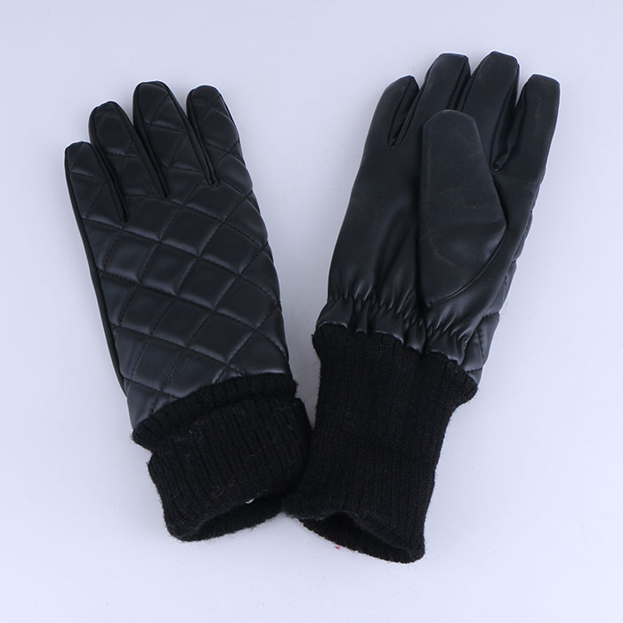 Winter Warm Gloves Pu Leather Gloves Driving Cycling GlovesFor Women