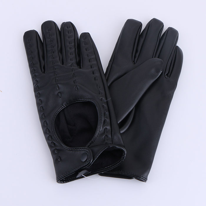 Classic WinterWarm Gloves PU Leather Driving Full Finger Cold Weather Gloves