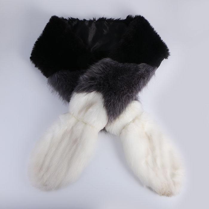 Classic Warm Faux Fur Shawl Wrap Stole Shrug Winter Scarf