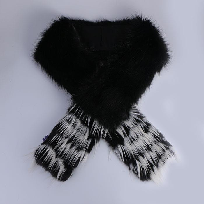 Luxury Faux Fur Cape Black Shawl Soft Warm Scarf