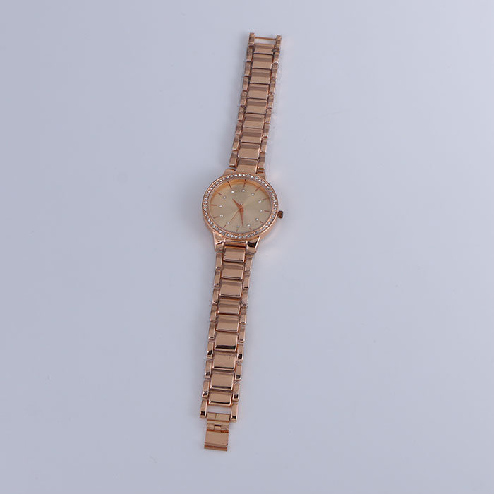 Luxury Women Stainless Steel Rhinestone Quartz Watch