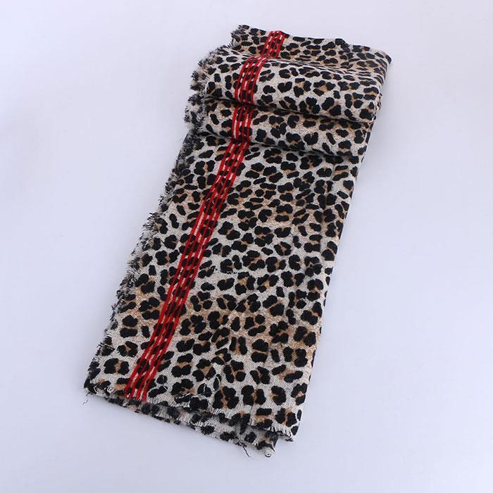 Women Winter Leopard Scarf Cashmere Feel Pashmina Shawls Wraps Scarf