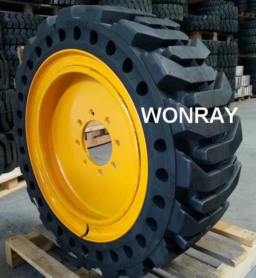 10-16.5 tire & yellow rim (2)