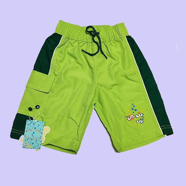 Boys  Verde Color Beach Shorts