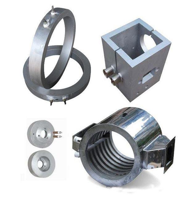 ブロー成形機用アルミニウムバンドヒーターの鋳造