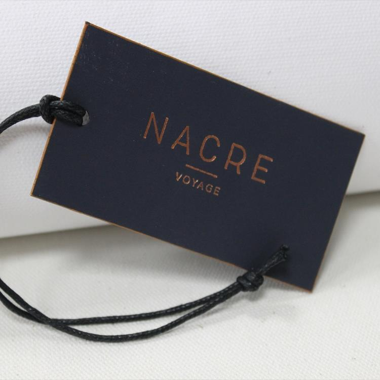 Hot stamped product hang tags with black wax string.jpg