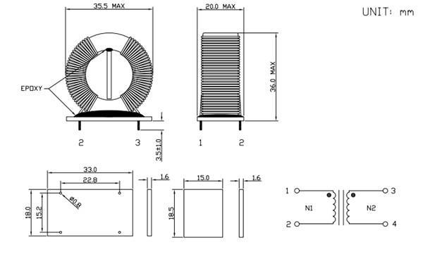 ferrite magnetic ring inductors