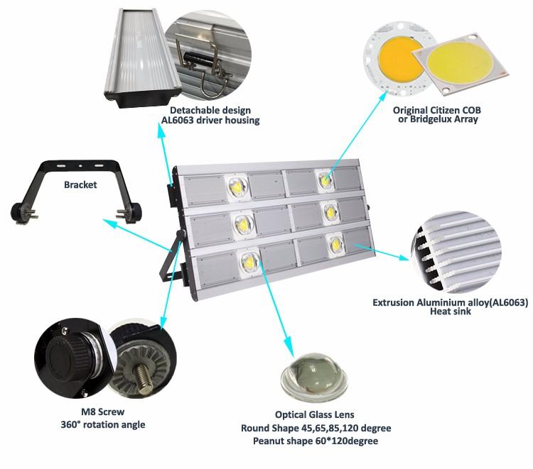 High power LED stadium light 750W COB LED light to replace halide lamp