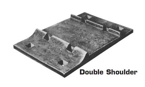 double shoulder rail tie plate