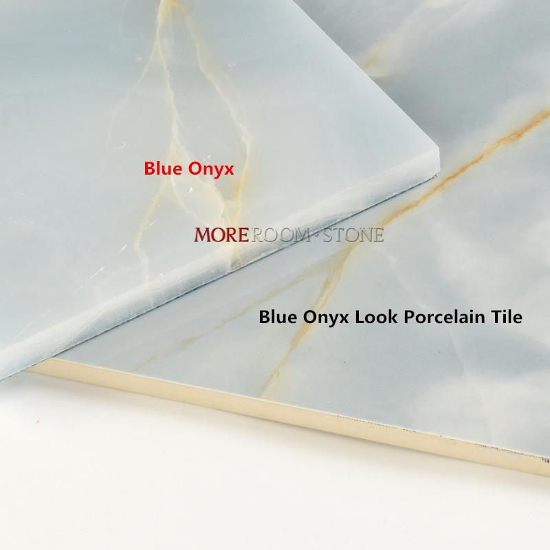 Blue Onyx Marble Look Porcelain Tile