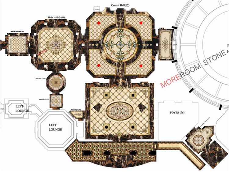 hot sale custom pattern water jet marble medallion design (2)