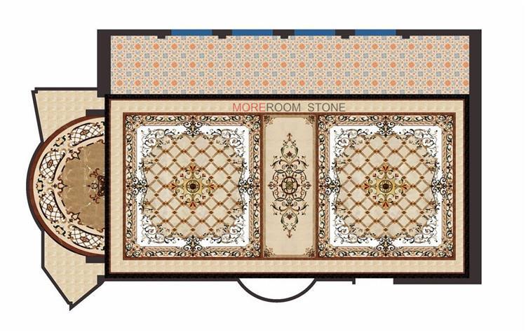 hot sale custom pattern water jet marble medallion design (1)