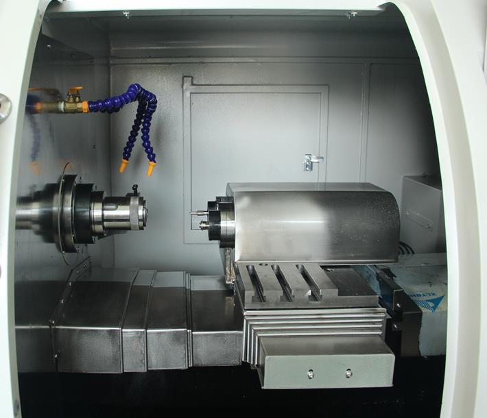 Advanced Shuttle Grinding Machine CNC lathe inside