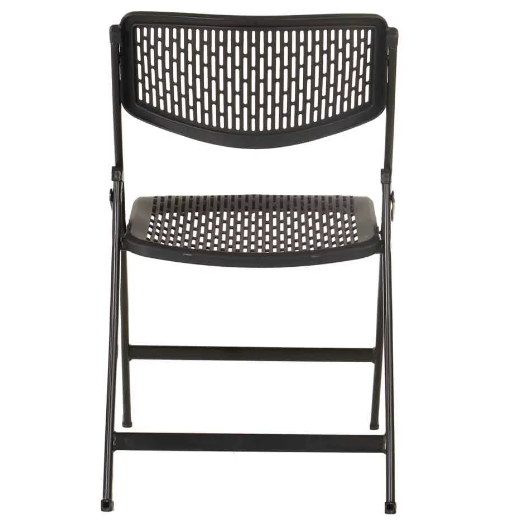 black plastic dining chairs