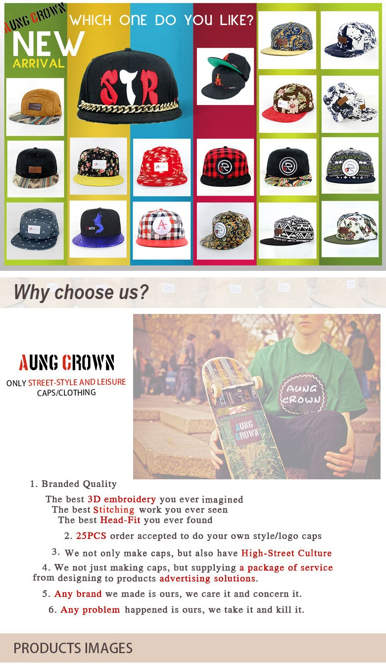 Custom 3D embroidery snapback, design your own snapback, snapback hat/cap wholesale fashionable