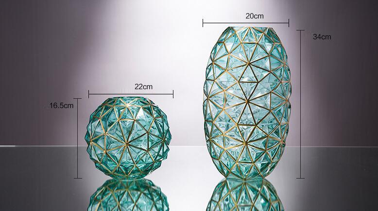 Geometric Creative Colorful glass vase