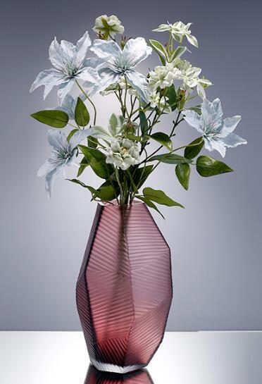 Modern style glass vase for decor