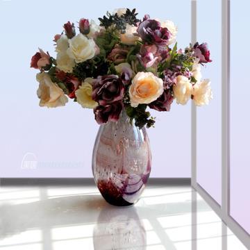 European style glass vase