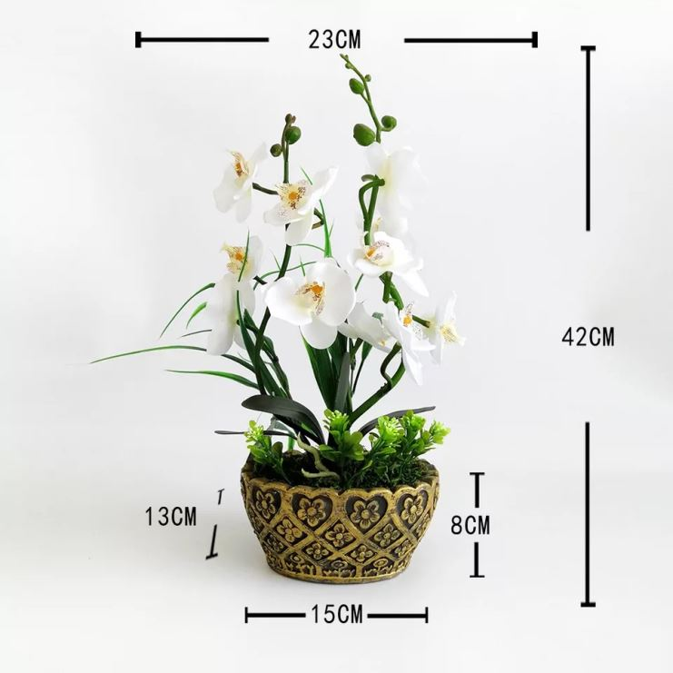 High Imitation stone orchid flowers set