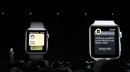 Apple watch-walkie talkie conference