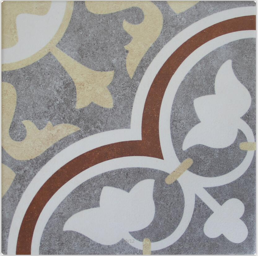 Flower Style Rustic Floor Tiles rustic tile pattern tile