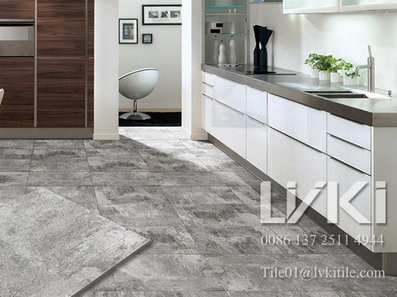 Grey Cement Look Porcelain Floor Tiles rustic cement tile porcelain tile flooring tile wall tile