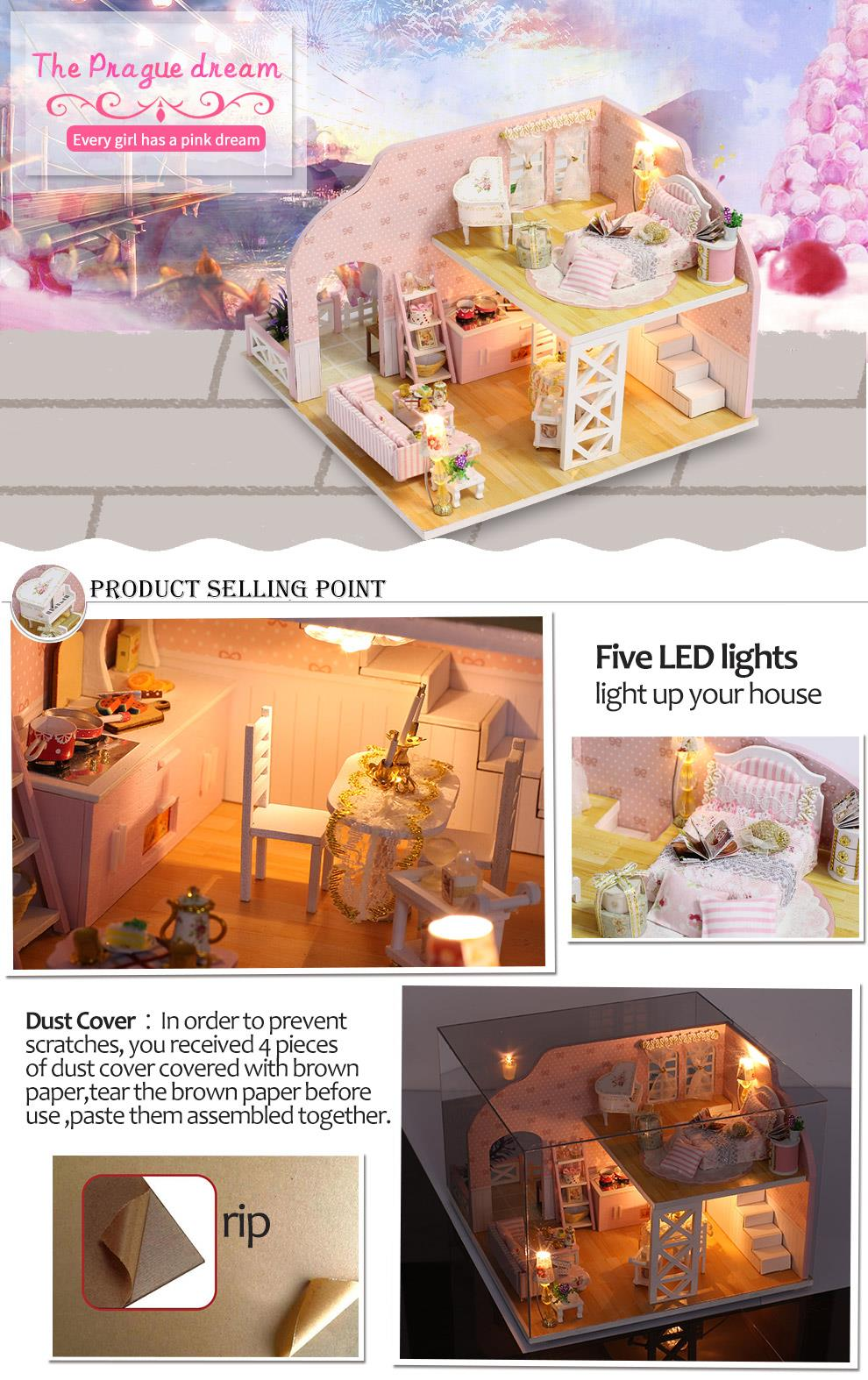 China factory Girls Dollhouse With Furniture