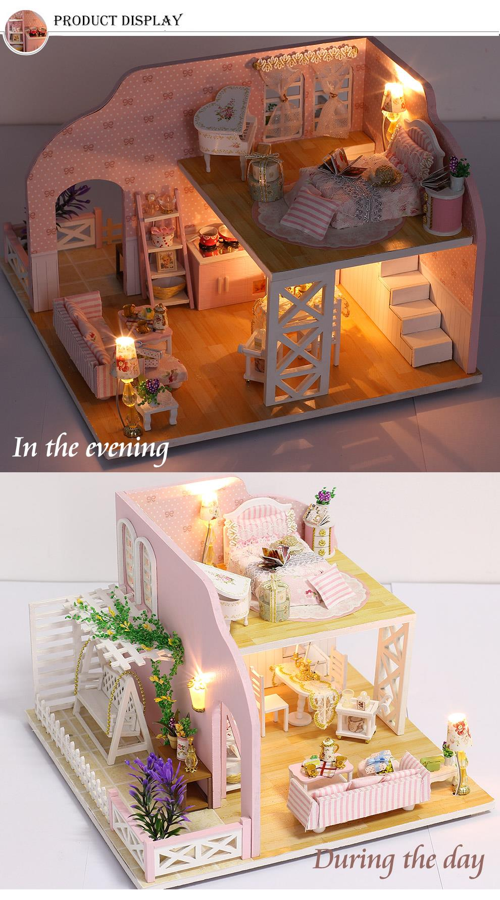 New toys Girls Dollhouse With Furniture