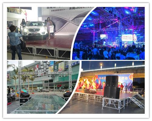 Fashion Show Glass Stage