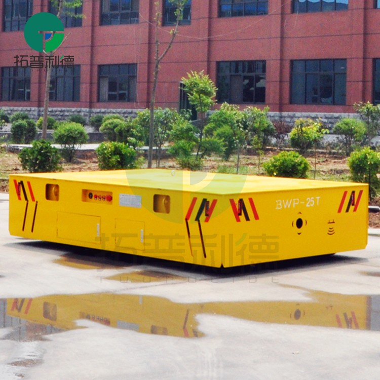 ongebaande elektrische platte trolley