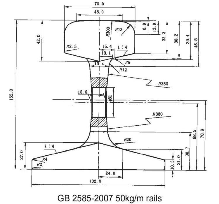 50kg GB Steel Rail